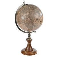 Hondius 1627 - Handcrafted French Globe - Features Classic Wooden Stand with Bronze Accents - Authentic Models GL003D