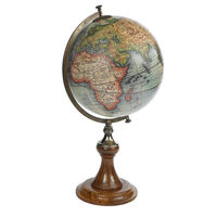Vaugondy 1745 - Handcrafted French Globe - Features Classic Wooden Stand with Bronze Accents - Authentic Models GL008D