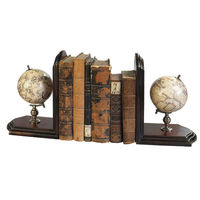 Globe Bookends - Handcrafted Celestial and Terrestrial Globes - Features Bronze Mountings and French Finished Stands - Authentic Models GL009F