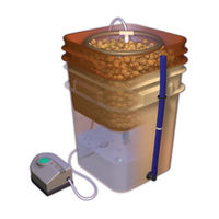 WaterFarm - Complete Hydroponic System - 4-Gallon Reservoir - Includes Growing Chamber, Drain Level Tube, Elite Air Pump, Growing Media, and Nutrients - General Hydroponics GH4120