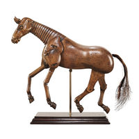 Art Horse - Articulated Wood Model - Features Hand-Carved Non-Endangered Wood in Translucent French Finish - Authentic Models MG003F