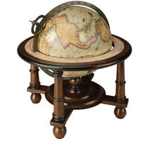 Navigator's Terrestrial Globe - Authentic Reproduction - Features Detailed Turned Wood Stand with French Finish - Authentic Models GL023F
