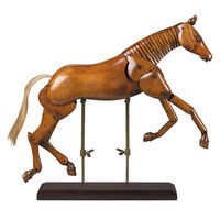 Large Artist Horse - Articulated Wood Model - Features Hand-Carved Non-Endangered Wood in Translucent French Finish - Authentic Models MG006F