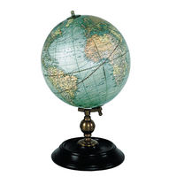 Weber Costello 1921 USA Globe - Authentic Reproduction - Features Detailed Ebonized Wood Stand - Bronze Accents - Authentic Models GL026