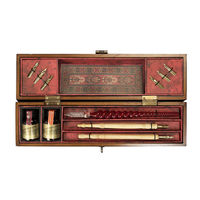 Windsor Prose - Writing Set - Features Wooden Box in French Finish and Solid Bronze Hardware - Includes Ink and Writing Materials - Authentic Models MG029