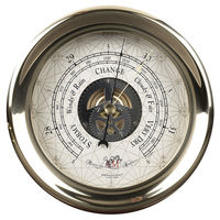 Captain's Barometer - Weather Instrument - 7 in. Dia. - Features Storm Resistant Brass Case and Custom Dial - Authentic Models SC041
