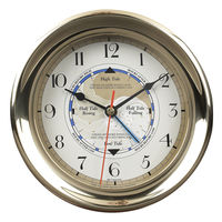 Captain's Time and Tide Clock - 7 in. Dia. - Features Storm Resistant Brass Case and Tide Hand - Authentic Models SC042