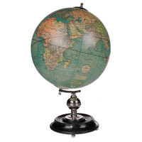 Weber Costello Globe - 1920s Handcrafted Replica - Features Rosewood Stand with Nickel-Plated Brass Accents - Authentic Models GL036