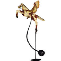 Great Plains Sky Hook - Metal Balance Toy - Features Hand-Painted Horse and Indian Chief Figures on Recycled Metal Stand - Authentic Models TM011