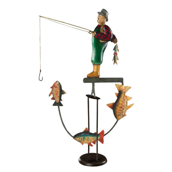 Fly Fisherman Sky Hook - Metal Balance Toy Image
