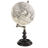 Trianon Globe - Handcrafted French Globe - Features Hand-Finished Rosewood Stand - Brass Accents - Authentic Models GL045