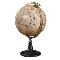 Old World Globe Stand - Handcrafted Replica - Features French Finished Rosewood Stand - Bronze Accents - Authentic Models GL046