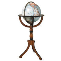 Library Globe - Classic Replica - Features Handcrafted Globe with French Finished Stand - Authentic Models GL047