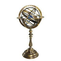 Bronze Armillary Dial - Classic Replica - Features Solid Bronze Hoops and Stand - Authentic Models GL052