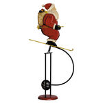 Skiing Santa Sky Hook - Metal Balance Toy Image