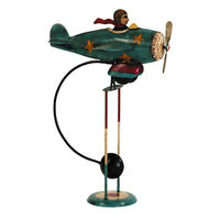 Flying Ace Sky Hook - Metal Balance Toy - Features Hand-Painted Pilot and Airplane Figures on Recycled Metal Stand - Authentic Models TM074