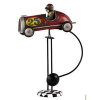 Road Racer Sky Hook - Metal Balance Toy - Features Hand-Painted Race Car and Driver Figures on Recycled Metal Stand - Authentic Models TM075