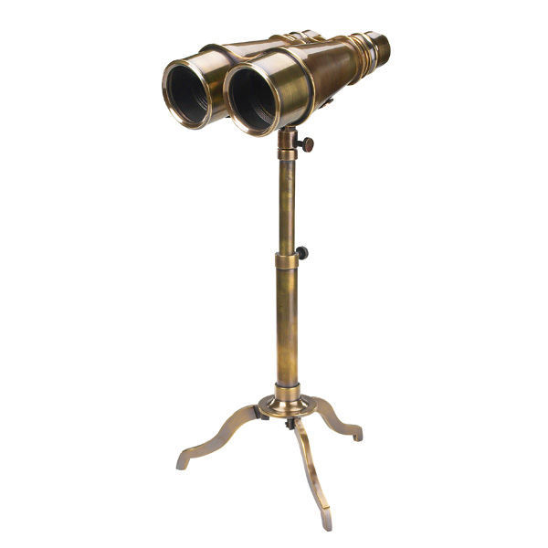 Victorian Binoculars With Tripod - 19th Century Replica Image