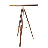 Avalon Telescope - Classic Reproduction - Features Brass Telescope and Solid Rosewood Adjustable Tripod with Brass Accents - Authentic Models KA038