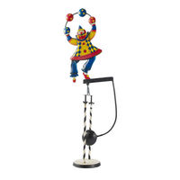 Clown Sky Hook - Metal Balance Toy - Features Hand-Painted Juggling Circus Clown on Recycled Metal Stand - Authentic Models TM116