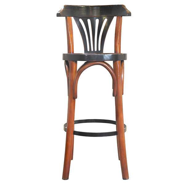 Grand Hotel Bar Stool De Luxe in Honey - Bar Stool with Back Image