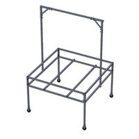Tray Stand with Light Kit - 4 ft. x 4 ft. - Steel - For Use with Active Aqua 4X4 Flood Tables - Flood Tables Not Included - Active Aqua HGSFT44