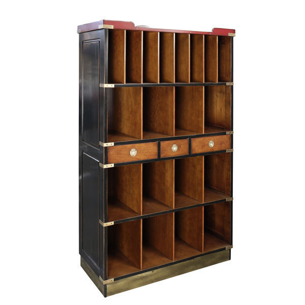 Ritz Lobby Cabinet in Honey - Large Bookcase Image