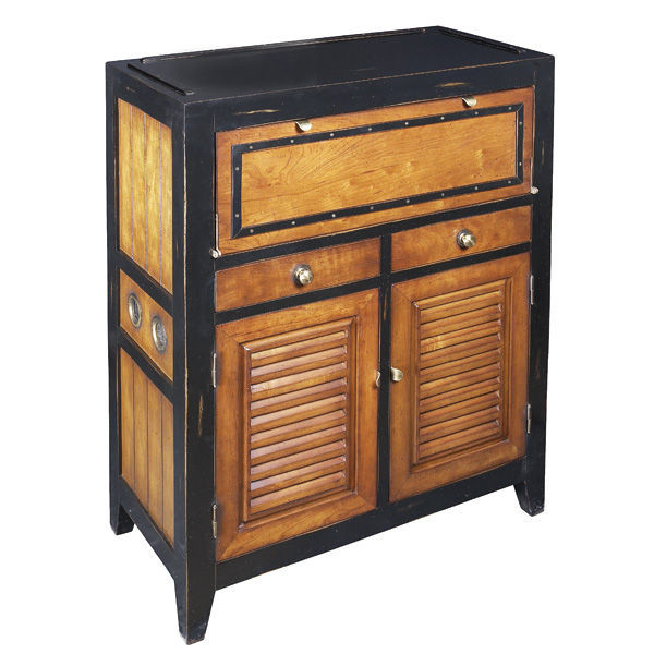 Cape Cod Console in Black - Storage Unit Image