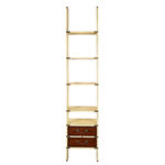 Library Ladder in Ivory - Bookcase Image