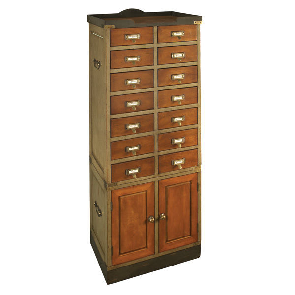 Collector's Cabinet with Doors - Card Catalog Cabinet Image