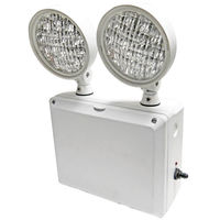 Heavy Duty Emergency Light - Wet Location - LED Lamp Heads - 90 Min. Operation - 120/277 Volt - Exitronix LEDRX-2-GR