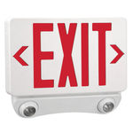 Double Face LED Combination Exit Sign - LED Lamp Heads Image