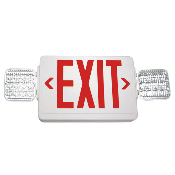 Double Face LED Combination Exit Sign - LED Lamp Heads - Self Testing Image