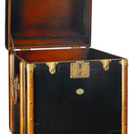 Stateroom End Table in Black - Trunk Replica Image