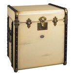 Stateroom End Table in Ivory - Trunk Replica Image