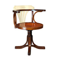 Ivory Purser's Chair - Features Solid Cherry and Maple Wood Finished in Ivory and Honey with Wrought Iron Accents - Authentic Models MF082