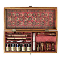 Trianon Letters - Writing Set - Features Wooden Box in French Finish with Solid Brass Hardware Accents - Includes Writing Materials and Sealing Tools - Authentic Models MG059