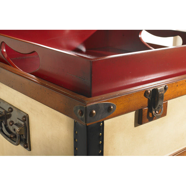 Polo Club End Table - Trunk Replica Image