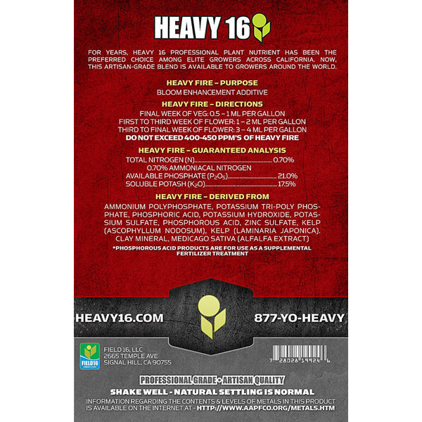 Heavy 16 – Heavy Fire – 500 ml Image