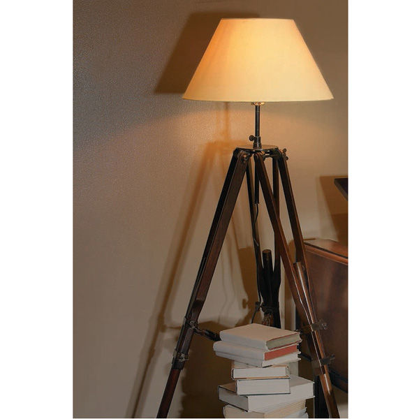 Authentic Reproduced Campaign Tripod - Floor Lamp Image