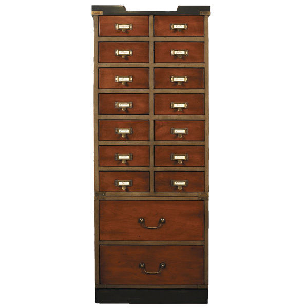 Collector's Cabinet with Drawers - Card Catalog Cabinet Image