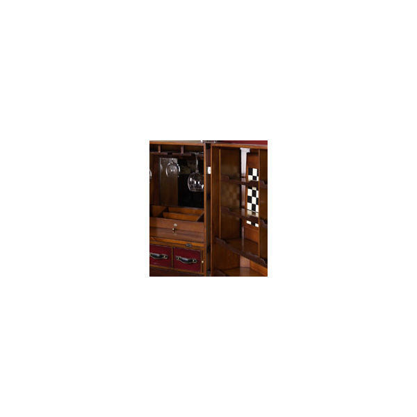 Stateroom Bar in Ivory - Trunk Bar Cabinet Image