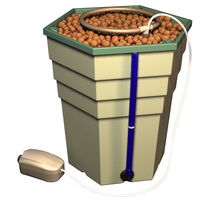 PowerGrower Eco - Complete Hydroponic System - 5.7 Gallon Reservoir - Includes Growing Chamber, Drain Level Tube, Air Pump, Growing Media, and Nutrients - General Hydroponics GH4830