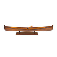 Saskatchewan Canoe - Hand-Crafted Reproduction - Features Solid White Pine Wood Construction - Table Stand Included - Authentic Models AS185