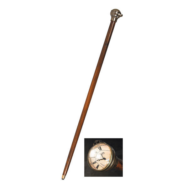 Time Companion - Victorian Walking Stick with Clock Image