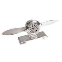 Propeller Desk Clock - Desktop Propeller Model - Made of Polished Hand-Cast Aluminum - Authentic Models AP111