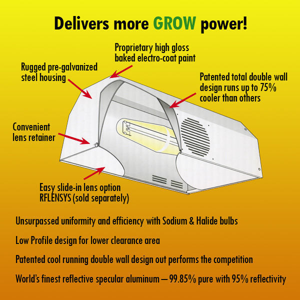 Daystar Grow Light Reflector - 4 in. Flange Opening Image