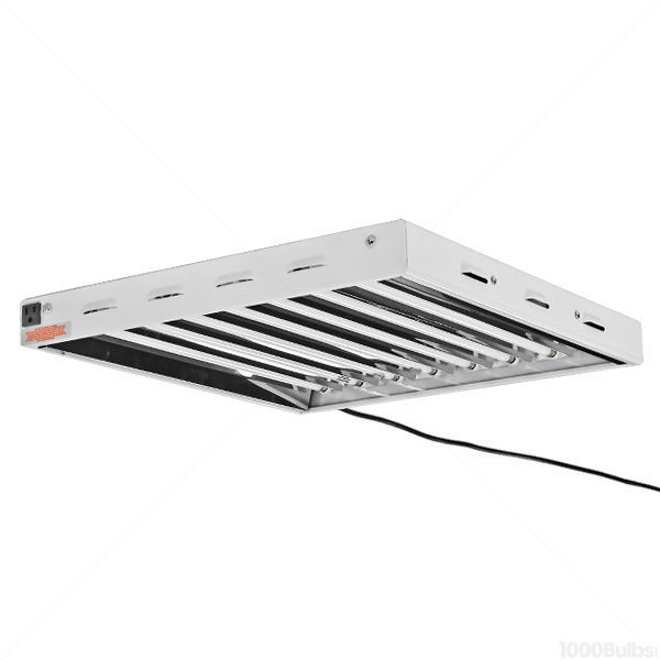 2 ft. - 8 Lamp - F24T5-HO - Fluorescent Grow Light Fixture Image