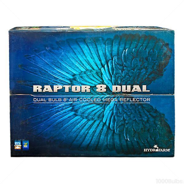 Raptor Dual Reflector -  8 in. Flange AC Unit with Dual Sockets Image