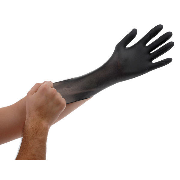 Large Black Lightning Gloves Image